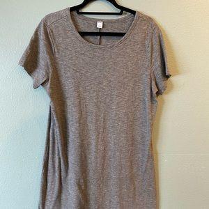 Old Navy Gray T-shirt Dress